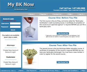 New My Bankruptcy Now Courses meet government requirements for pre- and post-bankruptcy filing.